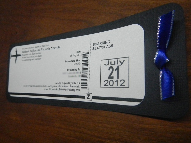 42 best Airplane ticket invitation images on Pinterest Ticket - airline ticket invitation