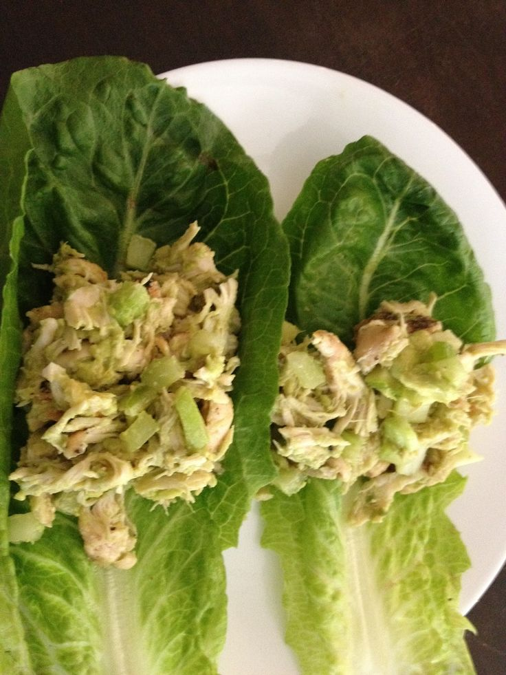 Advocare 24 Day Challenge Meal Journal: Chicken Salad Lettuce Wraps