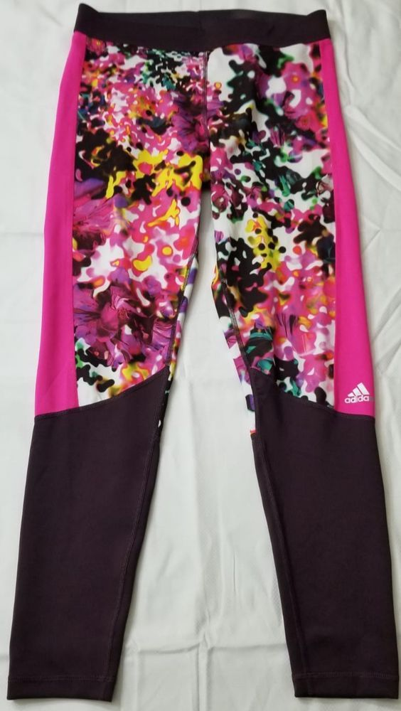 487e249cb4a Adidas Women's Techfit Floral Print Long Tights Size L #fashion #clothing  #shoes #accessories #womensclothing #activewear (ebay link)