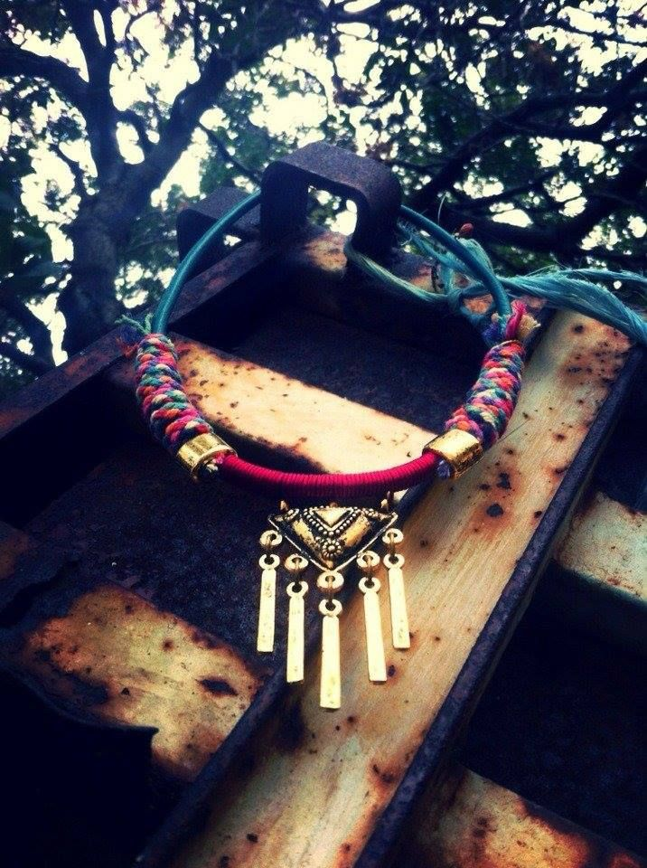 colorful ethnic necklace