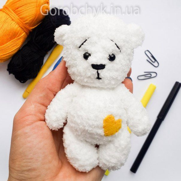 Amigurumi White Bear-Free Pattern...