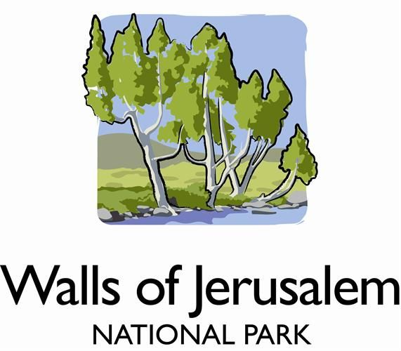Walls of Jerusalem National Park, Tasmania, Australia. Logo.