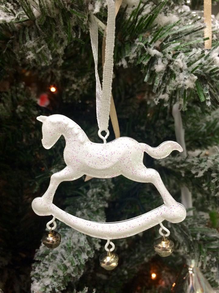 Addobbo natalizio per albero Cavallo a dondolo con campanelli