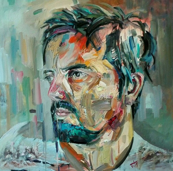 Self portrait oil on canvas by tasos bousdoukos...
