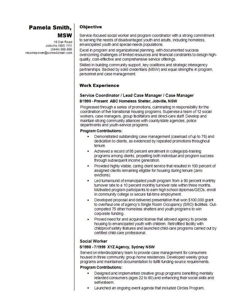social worker resume sample  resume examples job resume