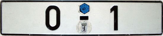 Offizielles Kennzeichen des Bundepräsidenten (Das abgebildete Exemplar befand sich an der Dienstlimousine des ehemaligen Bundespräsidenten Johannes Rau) ☺