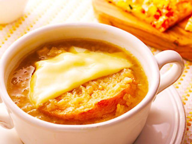 オニオングラタンスープのレシピ・作り方・食材情報を無料でご紹介しているページです。