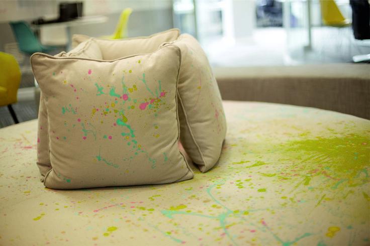 #fabric #Ontargetinteriors #Interiordesign #graffiti  #waitingarea #office