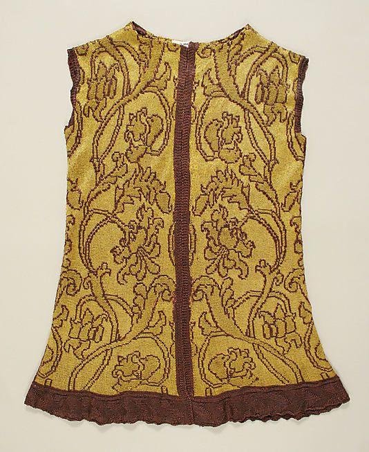Jacket  Date: early 16th century; Culture: Italian; Medium: silk, metallic thread; Accession Number: 46.156.117