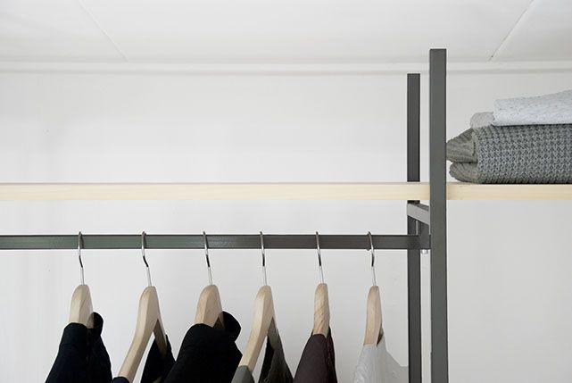 Tulip twins, COS, wardrobe, closet design, wood, metal, minimal and grey scale. Collaboration http://www.lisamalousmits.nl together with http://jannontwerp.nl