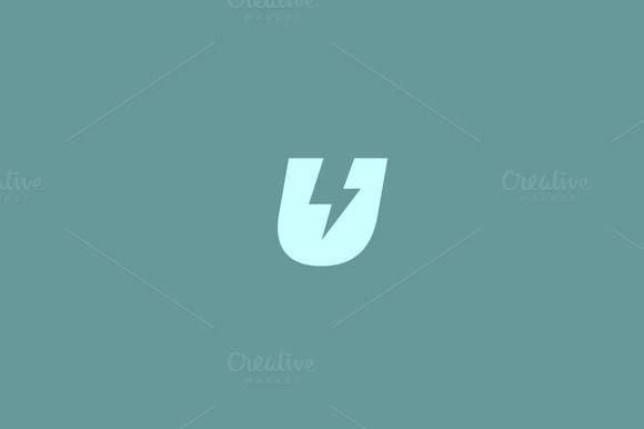 Letter U logo. Dynamic flash sign. by iamguru on Creative Market