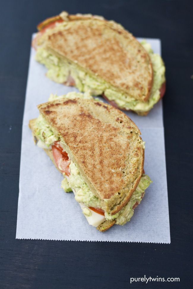 Healthier Guacamole Grilled Cheese