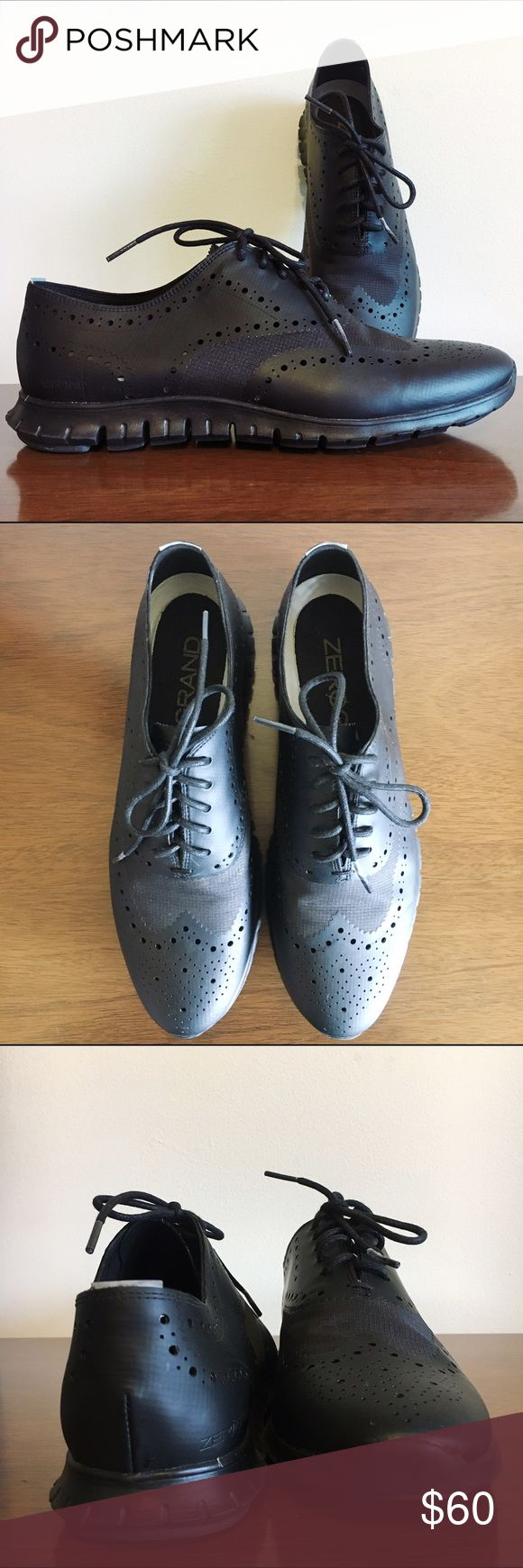Cole Haan ZeroGrand Wingtip Oxfords Brand new adorable Cole Haan Oxford shoes in black. Never worn, only tried on. Size 10. Cole Haan Shoes Flats & Loafers