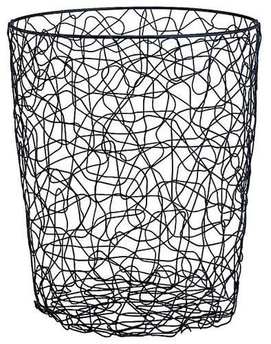 Wire Chaos Round Wastebasket - modern - waste baskets - Overstock
