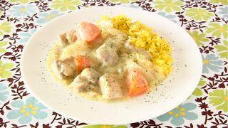 YouTubeで日本の料理やお菓子の作り方を英語のレシピ動画で紹介しています。Hokkaido White Curry with Turmeric Rice