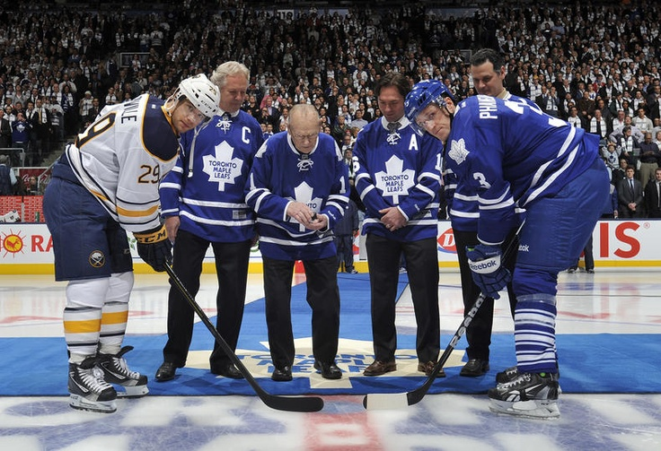 The ceremonial face-off
