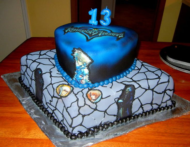 Cake Designs Hearts : 8 best images about Kingdom Hearts Themed Party on ...
