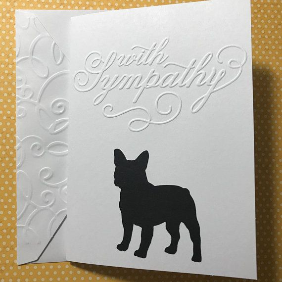 French Bulldog Sympathy Cards Greeting Pet Veterinarian Heartfelt Loss Of Dog Card Blank