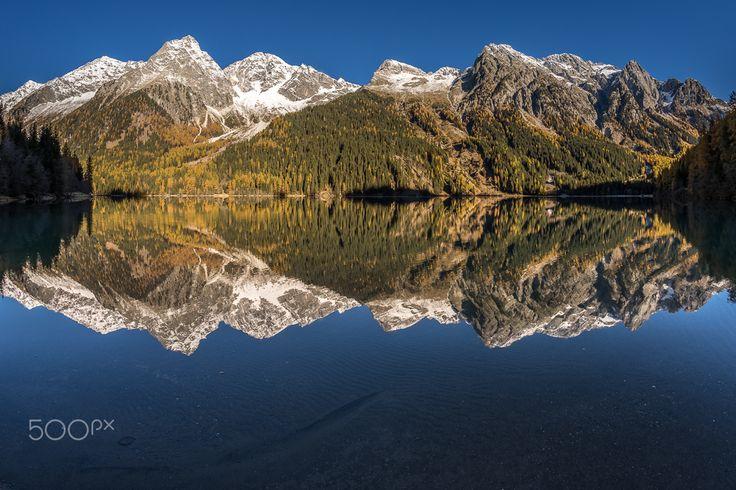 Antholzer See - Der Antholzer See in Südtirol im Oktober 2015