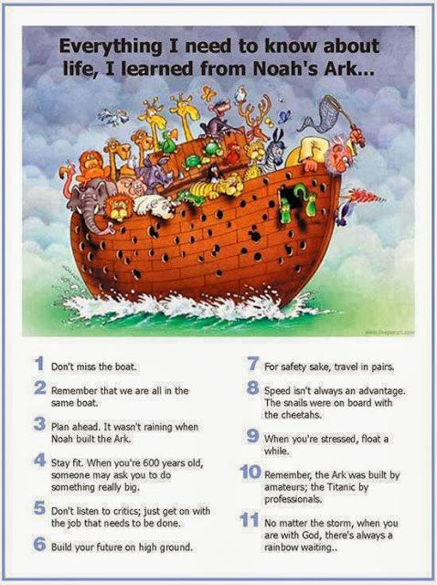 Catholic Humor: Everything I Need to Know About Life, I Learned From Noah's Ark #romancatholic #jesussaves #catholicjokes