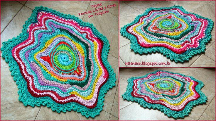 TAMBIÉN CROCHETO ...: alfombras gratuito y es de color 3 Maneras Trapilho
