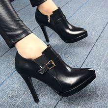 Forkix Boots - Belted Stiletto Ankle Boots