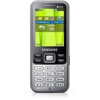 Telefon Samsung C3322 łączący dopracowany styl i przydatne funkcje z obsługą dwóch aktywnych kart SIM jest idealnym wyborem dla użytkowników ceniących sobie jakość. Klasyczna elegancka i smukła obudowa z przednią częścią z metalu doskonale uzupełnia nienaganny styl użytkownika, zarówno podczas pracy w biurze, jak i w trakcie pełnego wydarzeń życia rodzinnego. W atrakcyjną metalową obudowę wkomponowano ekran QVGA o przekątnej 2,2 cala