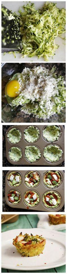 Start Recipes: Zucchini Crust Pizza Cups