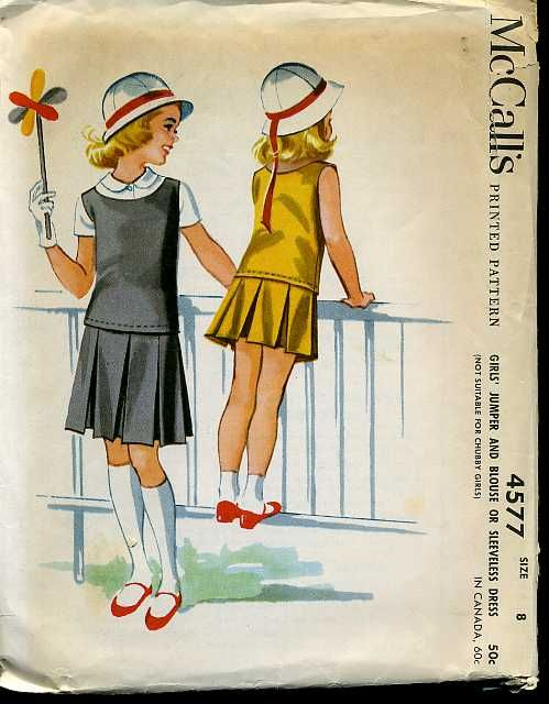 Neat Vintage Uncut 1950s McCall's 4577 Designer Helen Lee Girls Drop Waist Dress…