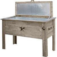 Rustic Drink Cooler...grat For The Patio With A White Wash And Without