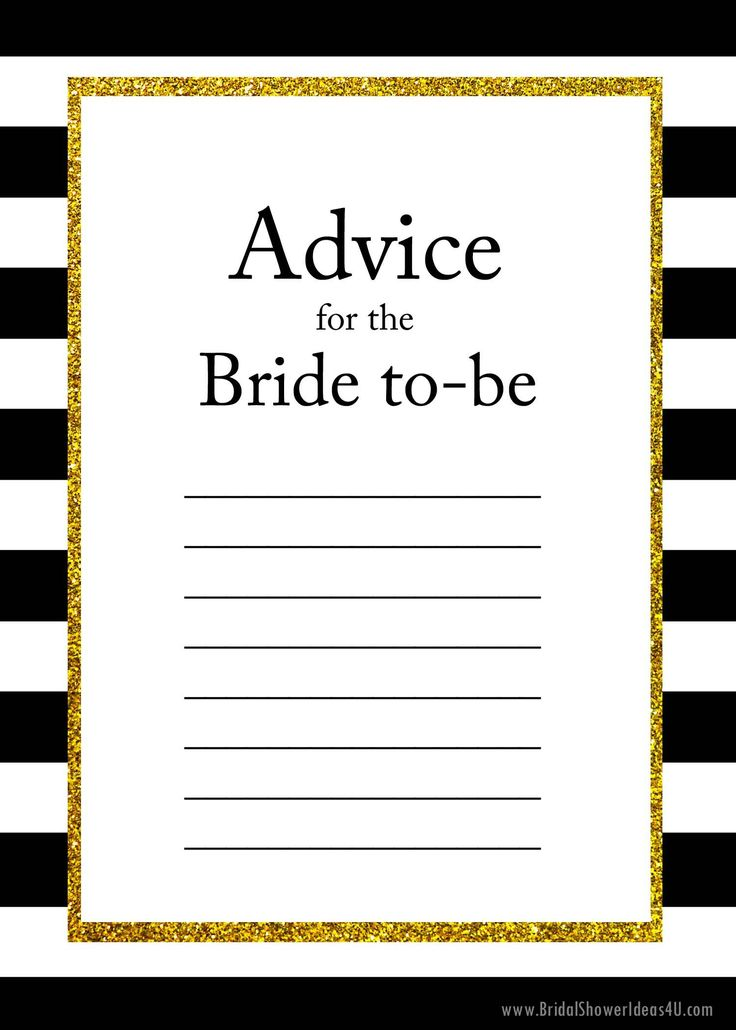 FREE Printable Advice for the Bride To Be Cards, Bridal Shower Ideas on Decorations, Themes, Bridal Shower Favors and Games, FREE Printable Bridal Shower Games, Printable Favors #BridalShowerFavors