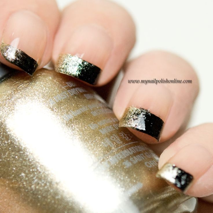 Tutorial - Gradient nail tips - http://www.mynailpolishonline.com/2015/11/nail-art-2/tutorial-gradient-nail-tips/