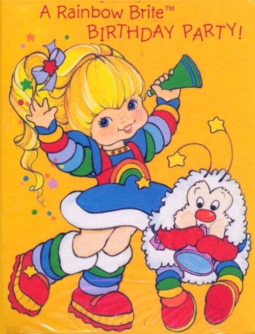 Rainbow Brite. Me and my brother on Halloween in the 80's:)