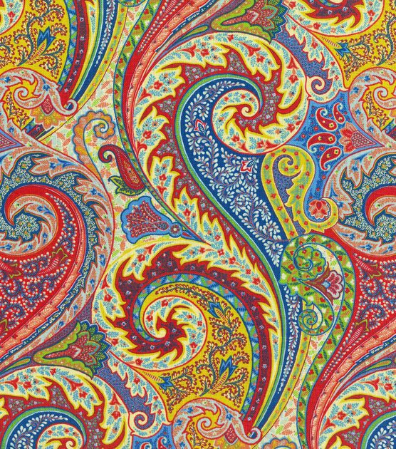 Upholstery Fabric-Williamsburg Jaipur Paisley Jewel