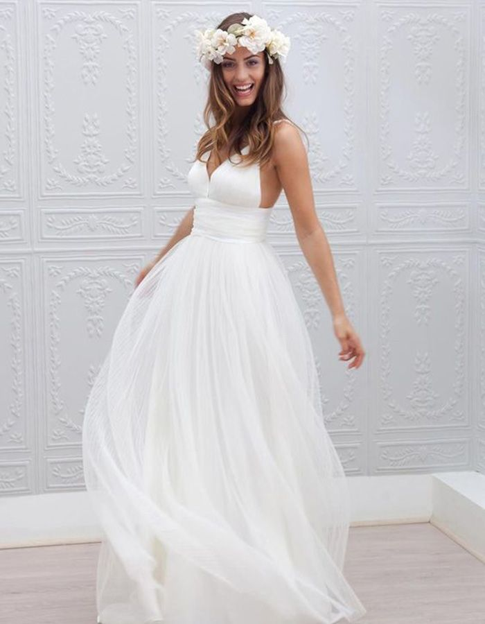 Reception Dresses Worth Doing An Outfit Change For This Flowy Maxi Dress Is Prefect Any Beach Wedding Or A Second