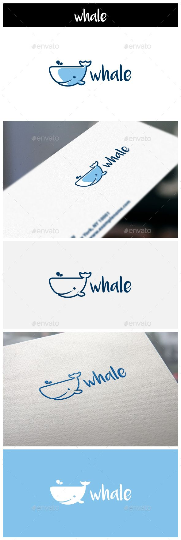Whale Logo — Vector EPS #character #modern • Available here → https://graphicriver.net/item/whale-logo/11103566?ref=pxcr