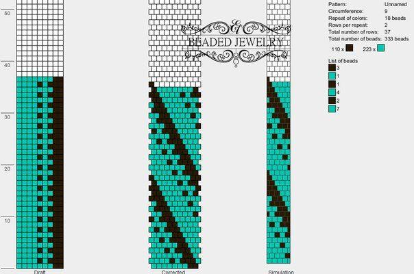 9 around bead crochet rope pattern