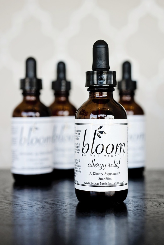 Bloom Allergy Relief    $21.50      Let Yourself Bloom    The Bloom Allergy Relief formula was developed to combat all types of allergies. Our customers swear by it, whether they suffer from chronic allergies or those related to seasonal changes, pets, or food. The all-natural, organic herbal formula works in harmony with your body to get to the root of any allergy woes and gives you a break from the headaches, sniffles, and sneezes. Our formula balances out your immune system, detoxifies