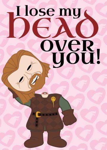 Game of Thrones Valentine