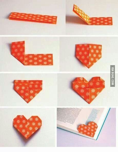 Heart shaped corner book mark... for book lovers ♥