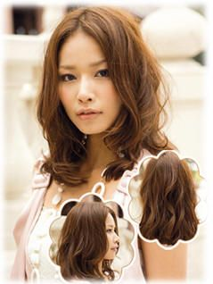 Mid-length hair for round face