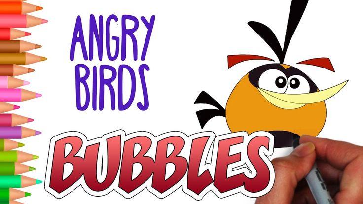 How to draw bubbles angry birds   Cómo dibujar burbujas de #angrybirds