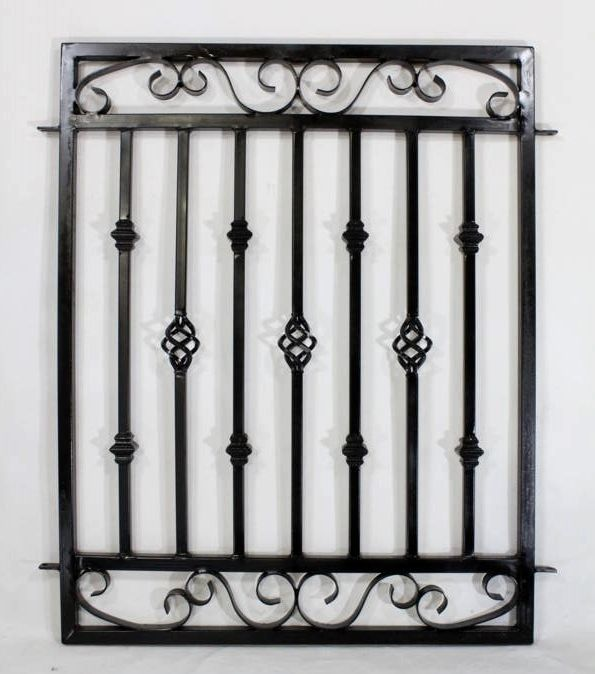 Wrought Iron Donovan Fence Panel - 37 w x 42 t