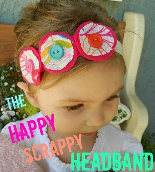 The Happy Scrappy Headband Tutorial @ The Little Giggler.: Happy Scrappy, Headbands Tutorials, Diy Hairbows, Hairbows Ideas, Girly Things, Circles Headbands, Diy Headbands, Scrappy Headbands, Crafty Ideas