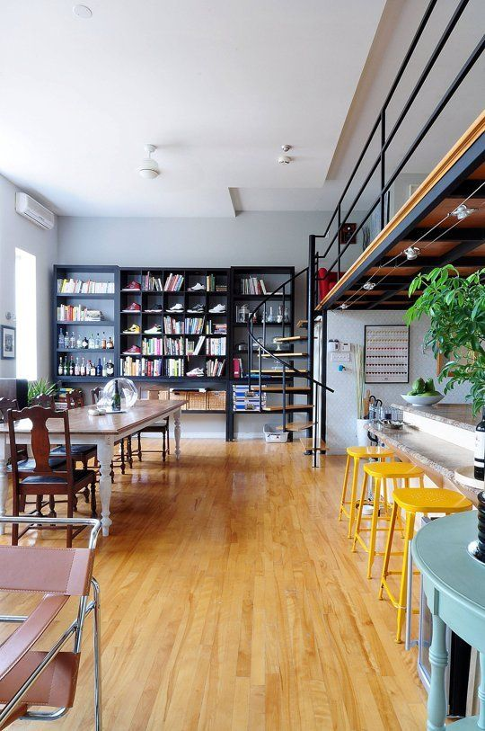 Hip, Patterned, Industrial Style In A Montreal Loft
