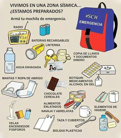 Kit de emergencia para temblor