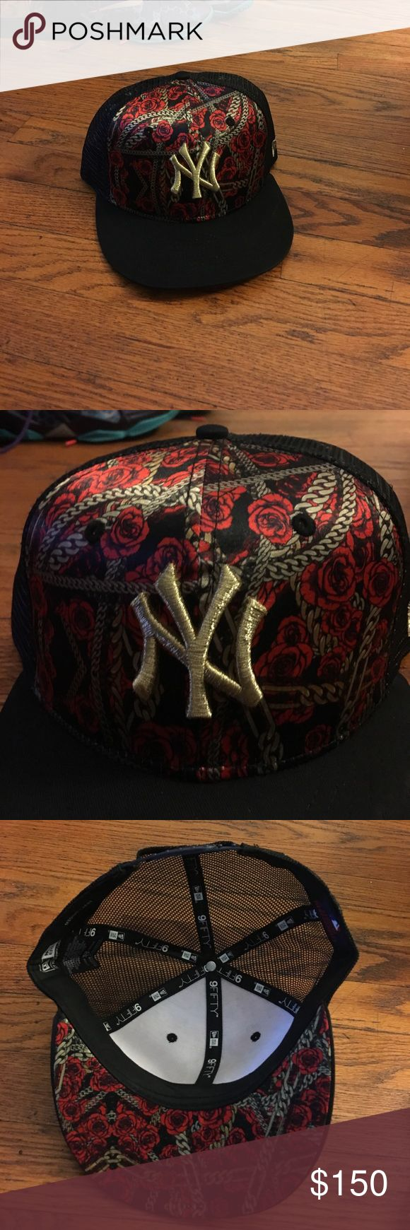 Rapper 2 chains and new era colab This is a rare exclusive New York Yankees new era 2 chains colab this hat has been worn by several stars (Gucci mane, 2 chains, Chris brown) this hat is sold out everywhere don't miss out New Era Accessories Hats