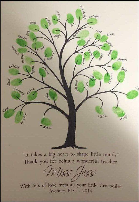 Teachers Gift Personalized Teacher Tree Custom by AlgoArtStudio