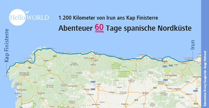 Camino Del Norte Etappen Kustenweg Jacobsweg Reisebericht