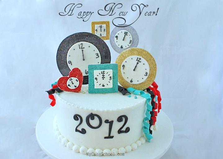 Happy New Year Cake–Blog Tutorial